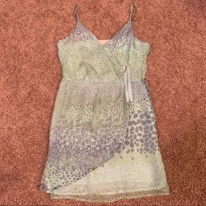 ISABEL LU Printed Silk Dress